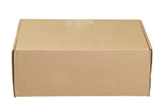 Used Cardboard Box Royalty Free Stock Photos