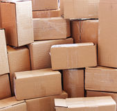 Used cardboard boxes Royalty Free Stock Images