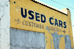 Used cars royalty free stock photos
