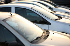 Used Cars. Used Car Dealership Cars In A Row Royalty Free Stock Images