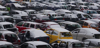 Used cars park Royalty Free Stock Photography