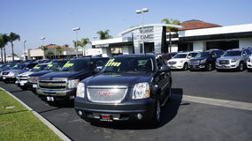 Used Cars For Sale. The Boulevard Buick GMC are selling cars from beabd new to the used one along Cherry Avenue in Long Beach, CA Stock Images