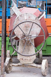 Used cement mill. Waiting for maintenance Stock Image