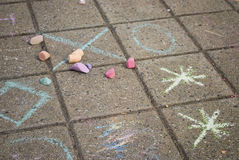 Used Chalk Royalty Free Stock Photography
