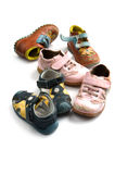 Used children shoes close up Royalty Free Stock Photo