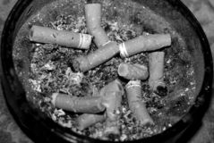 Used cigarette in ashtray Stock Photos