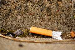 Used cigarette Stock Image