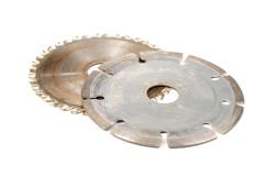 Used Circular Saw Blades Royalty Free Stock Image