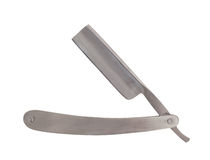 Used classic straight razor, old style Stock Images