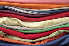 Used clothes stacked Royalty Free Stock Photography