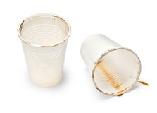 Used coffee cups Stock Images