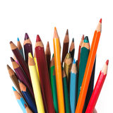 Used color pencils Royalty Free Stock Images