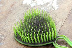 Used comb with fallen hair Stock Photos