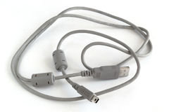 Used connecting cable for computer Stock Photo