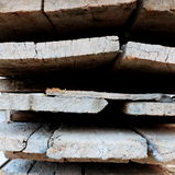 Used construction wood Royalty Free Stock Photo