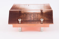 Used copper heat sink for cooling the microprocessor of the comp Royalty Free Stock Photos