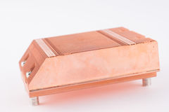 Used copper heat sink for cooling the microprocessor of the comp Stock Images