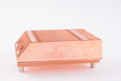 Used copper heat sink for cooling the microprocessor of the comp Stock Photography