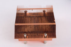 Used copper heat sink for cooling the microprocessor of the comp Royalty Free Stock Photography
