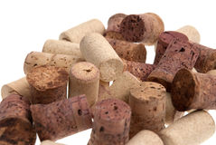 Used corks from bottles guilt Royalty Free Stock Photo