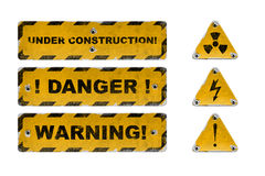 Used danger signs royalty free stock photography