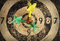 Used dart target Stock Photography