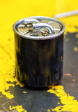 Used diesel oil filter Royalty Free Stock Photography