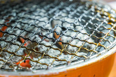 Used dirty hot barbecue grill  . Royalty Free Stock Photos