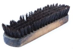 Isolated Used Shoe Brush Stock Photo
