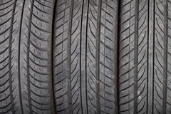 Used, dirty tires Royalty Free Stock Photography