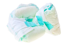 Used Disposable Baby Diapers. Royalty Free Stock Photo