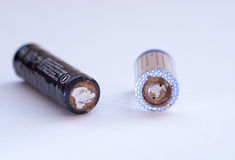 Used disposable drain batteries for recycling Royalty Free Stock Photo