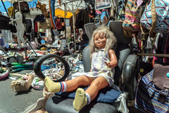Used Doll for Sale at a Local Flea Market Stock Images