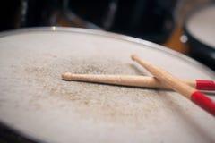 Used drum sticks detail Royalty Free Stock Image