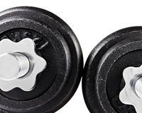 Used Dumbbells Stock Images