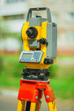 An used electronical theodolite close up Stock Images