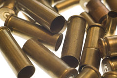 Used empty old bullet cartridges Royalty Free Stock Photos
