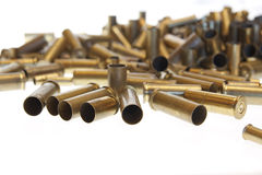 Used empty old bullet cartridges Stock Image