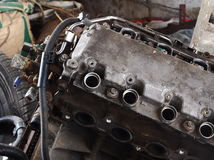 Used engine waiting for repair Royalty Free Stock Photo
