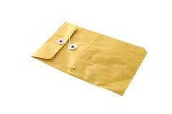 Used envelope. Isolated on white Stock Photo