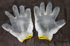 Used fabric glove Royalty Free Stock Images