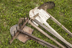 Used farm hand implements Royalty Free Stock Image