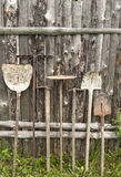 Used farm hand implements Royalty Free Stock Photo