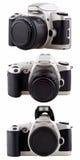 Used film camera isolated on white. Royalty Free Stock Image