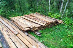 Used fire wood pile Royalty Free Stock Images