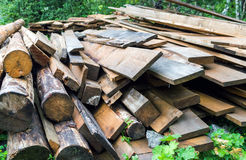 Used fire wood pile and logs Stock Photography