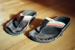 Used Flip-Flops Royalty Free Stock Photography