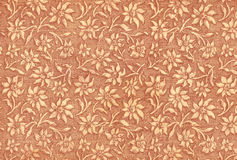 Used floral vintage wallpaper in rouge Stock Image
