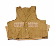 Used fly fishing vest Stock Photos