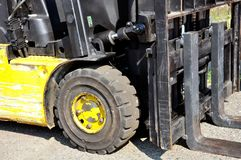 Used forklift truck Royalty Free Stock Images